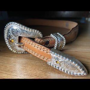 Tony lama ostrich western belt size 30 used